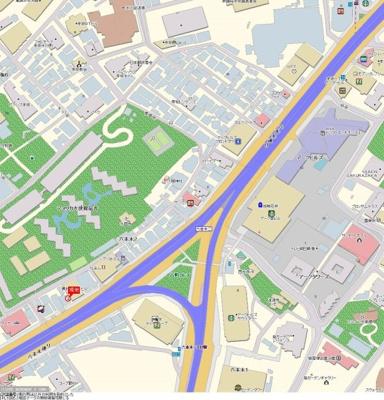 【地図】パレステュディオ六本木EASTⅡ