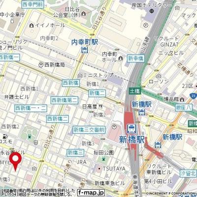 【地図】ルーブル新橋