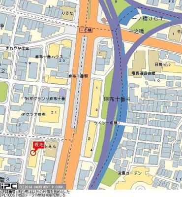 【地図】シンシア麻布十番