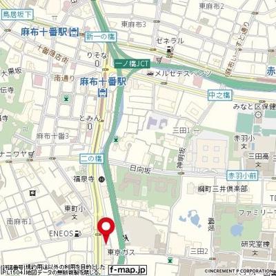 【地図】ステージファースト南麻布