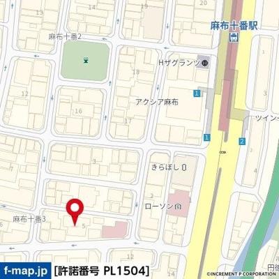 【地図】グランド・ガーラ麻布十番