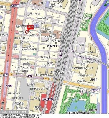 【地図】パレステュディオ浜松町