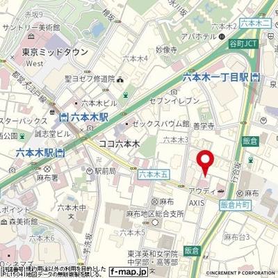 【地図】朝日サテライト六本木