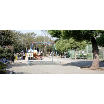 公園「東調布公園まで1986m」東調布公園