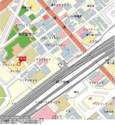 【地図】シティハイツ新小岩