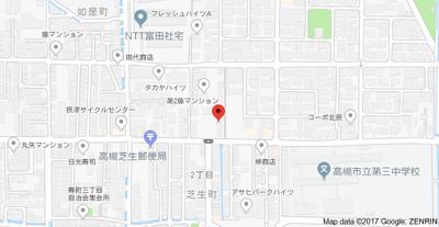 【地図】メゾン津之江 (株)Roots