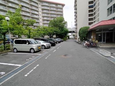 平面駐車場だと停めやすく乗り降りもし易いですね♪