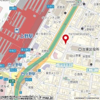 【地図】朝日上野マンション