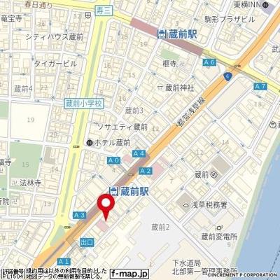 【地図】ニューライフ蔵前