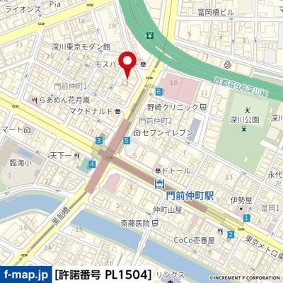 【地図】ザ・パークワンズ門前仲町
