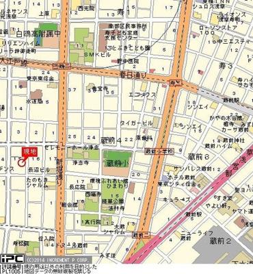 【地図】リスレーヌ蔵前