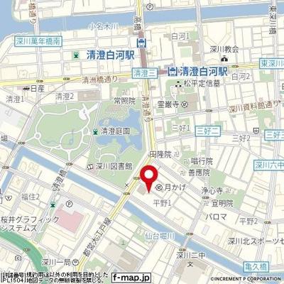 【地図】レガリス門前仲町パークサイド