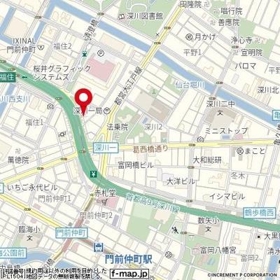 【地図】プレスタイル門前仲町