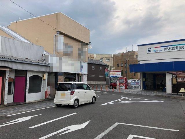 名鉄名古屋線 新木曽川駅前の好立地です。