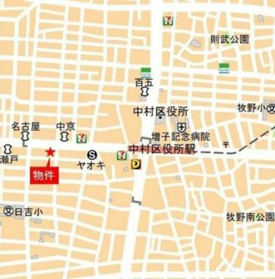 【地図】ヒヴィ・カーサ名駅西
