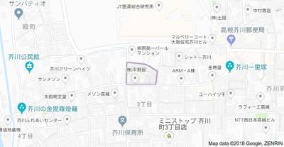 【地図】コンフォート茜 (株)Roots