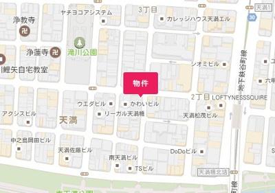 【地図】ノルデンハイム天満橋