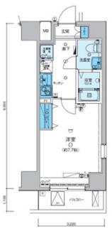 7.7帖バストイレ別独立洗面台の使いやすい間取り Wi-Fi対応のインターネット無料