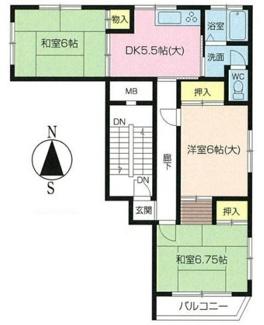 3DK、価格930万円、専有面積56.06m2、バルコニー面積3.3m2