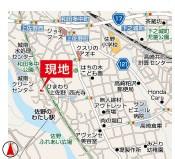 【地図】高崎市上佐野町9期 1号棟