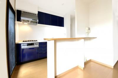 キッチンスペースとリビングの間にカウンターがあり、出来上がった料理などを置けて便利です。