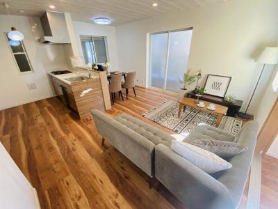 【施工例】◇LDKは床暖房が付いており、あったか空間があります、ご家族との団欒の場になります