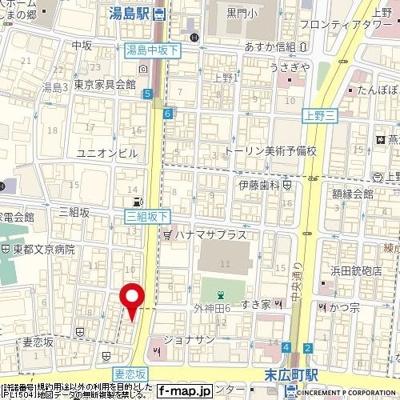 【地図】ロアール御茶ノ水妻恋坂