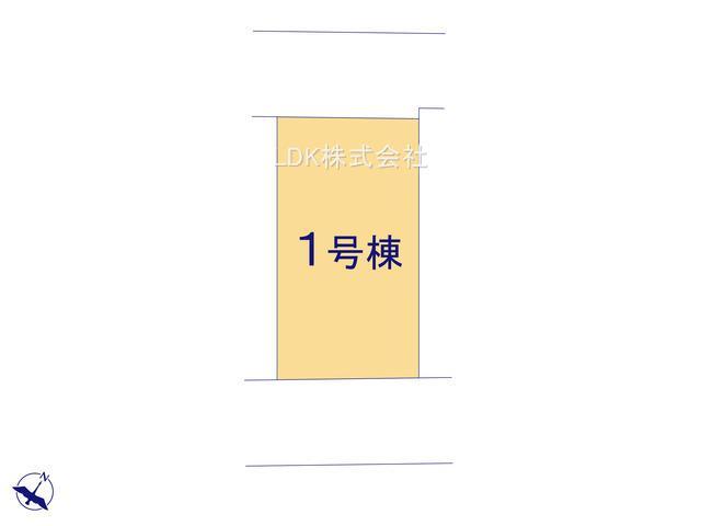 【区画図】新築戸建/富士見市鶴瀬西3丁目(全1棟)