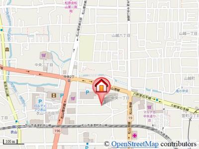 【地図】中央岡野住宅
