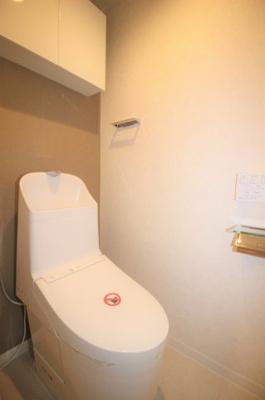 温水便座付きトイレです(新規交換済)