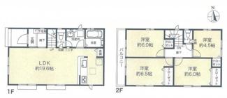 【間取り】平塚市長持 新築戸建 全6棟3号棟