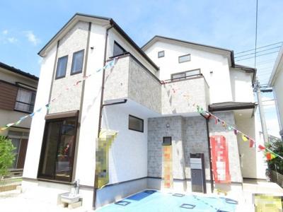 【外観】川越市上野田町 3LDK+ロフト+カースペース2台 新築戸建