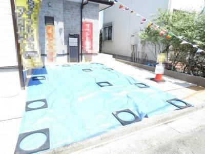【駐車場】川越市上野田町 3LDK+ロフト+カースペース2台 新築戸建