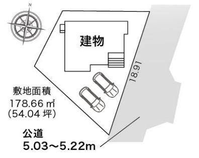 【区画図】藤枝市藤岡4丁目 新築一戸建て HM