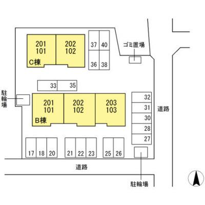 【区画図】ソシアドミール C棟