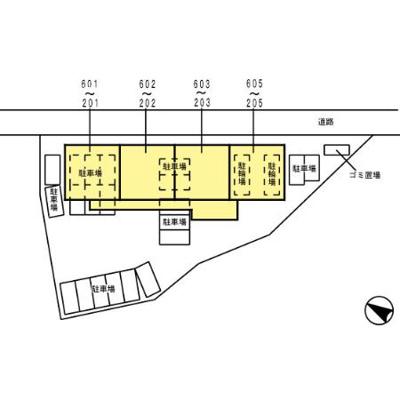 【区画図】クレール長尾II