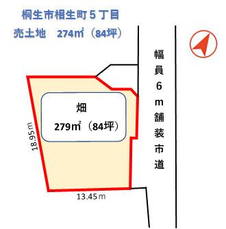 【土地図】桐生市相生町5丁目土地