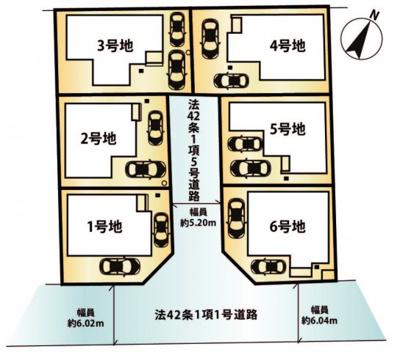 【区画図】大津市本堅田4丁目27 新築分譲