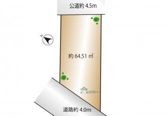 【土地図】世田谷区北沢5丁目 建築条件なし土地