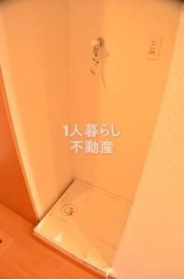 洗濯機置場は室内です。