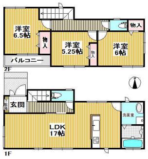 【1号地】 建築確認番号:第NK21-0369号 土地面積96.62㎡ 建物面積:85.28㎡ 3,590万円 完成予定日:令和3年11月