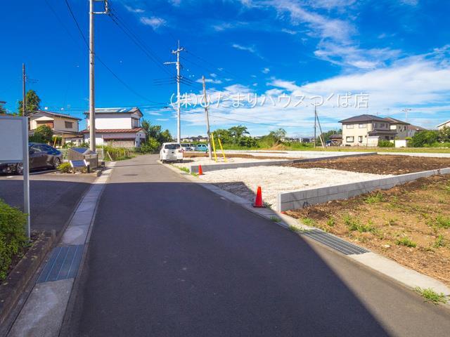 【前面道路含む現地写真】土浦市乙戸 新築戸建 3号棟