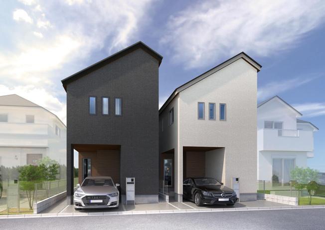 【外観パース】世界に2つとない永住にふさわしい特別仕様住宅