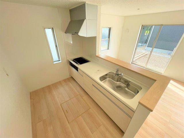 【キッチン】【新築】古川小泉 3号棟 全4棟 10月完成
