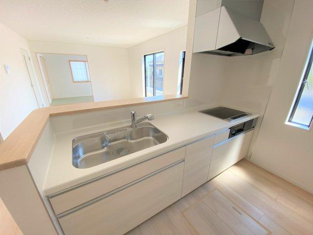 【キッチン】【新築】古川小泉 2号棟 全4棟 10月完成