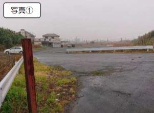 【前面道路含む現地写真】旭市イ 非線引区域 売地
