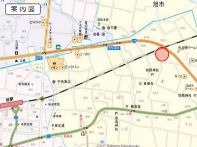 【地図】旭市イ 非線引区域 売地