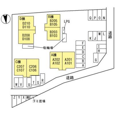 【区画図】ディアス八重 D棟