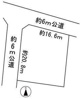 【区画図】57210 岐阜市西中島土地