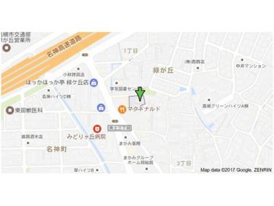 【地図】ハイアーグラウンドA棟